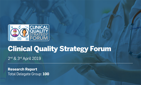 Clinical Quality Strategy Forum (April 2019)