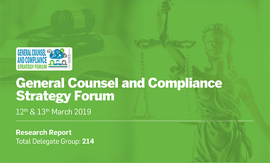 General Counsel and Compliance Strategy Forum (March 2019)